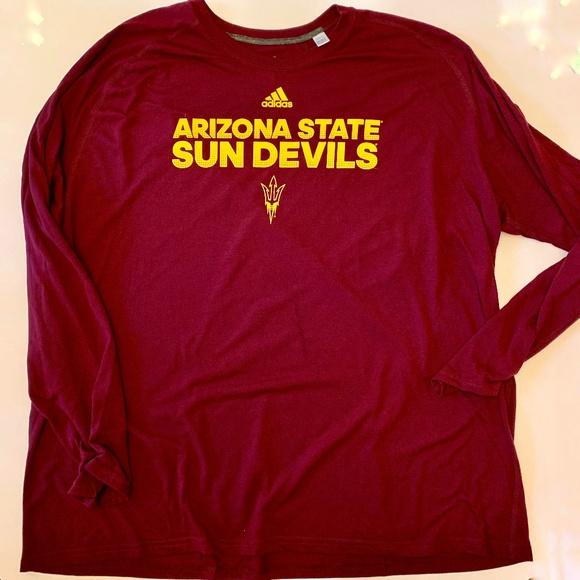 8257c2771657 adidas Shirts | Arizona State Sun Devils Long Sleeve Tee | Poshmark
